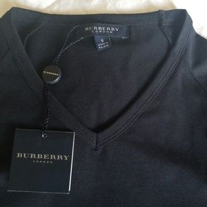Burberry Tops - Size Small New Burberry black T Shirt.